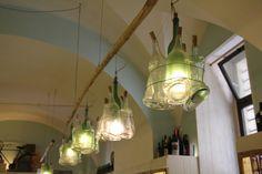 *Bottle lamps.