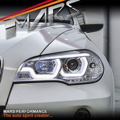 Clear LED DRL projector Head Lights for BMW X-Series X5 E70 07-10 Pre LCI 07-10 #MarsPerformance #LightsIndicators