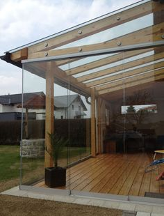 The pergola kits are the easiest and quickest way to build a garden pergola. There are lots of do it yourself pergola kits available to you so that anyone could easily put them together to construct a new structure at their backyard. Garden Room, Pergola With Roof, Deck With Pergola, Glass Door, Patio Design