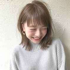 Bob Haircut For Girls, Girl Haircuts, Bob Hairstyles, Medium Hair Styles, Short Hair Styles, Cute Japanese Girl, Japanese Hairstyle, Girl Short Hair, Gorgeous Hair