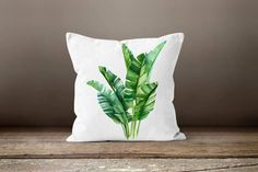 Plants Pillow Cover|Green Leaves Pillow Cover|Floral Cushion Case|Decorative Pillow Case|Bedding Home Decor|Housewarming Outdoor Pillow Gift - 3 / 17x17 (Both-Sided)