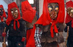 Visit Southern Germany and celebrate Fasnacht. Fasnacht or Fasching is a 5 day Pre-Lenten celbration. The people wear masks to scare away the evil spirits of winter and hope for warm weather and good crops.
