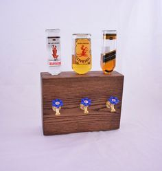 Dispensador de licor madera 3 botellas