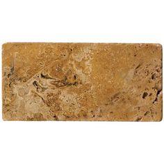 "Emser Tile Natural Stone 8"" x 12"" Travertine Field Tile in Oro"