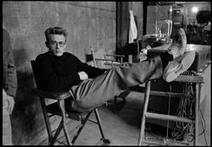Phil Stern - James Dean (Feet Up) | From a unique collection of black and white photography at http://www.1stdibs.com/art/photography/black-white-photography/