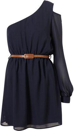 TOPSHOP  Cut Out Shoulder Dress By Rare**