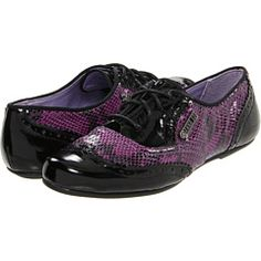 I really want, but do not need, these Hush Puppies designed by Anna Sui. Purple Snake, Purple Rain, All Things Purple, Girly Things, Girly Stuff, Oxford Heels, Purple Fashion, Hush Puppies, Retail Therapy