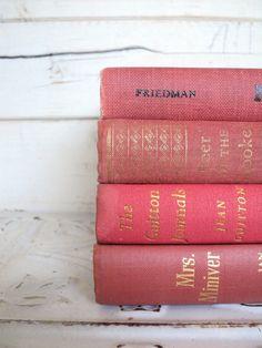 Vintage Decorative Books #pink