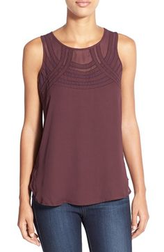 Dex Illusion Inset Sleeveless Blouse available at #Nordstrom