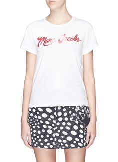 Main View - Click To Enlarge - Marc Jacobs - Logo glitter print cotton T-shirt
