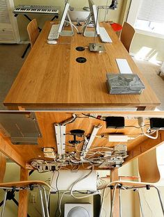 13 Smart Home Office Organization Ideas For You When I work at home and spend my time staying in my home office, I want it to be super organized! Here are 13 smart home office organization ideas for you Office Hacks, Office Setup, Home Office Organization, Office Table, Home Office Desks, Organization Hacks, Office Decor, Organizing Ideas, Office Ideas