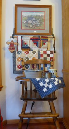 Flea Market Fancy quilt wall hangings by Fabric Warrior - Love ... : portable quilt hangers - Adamdwight.com