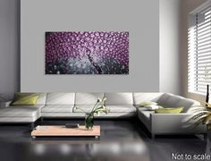 Tree Painting Violet Blossoms on large Canvas by acrylkreativ