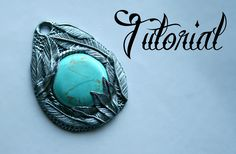 Silver & Turquoise Polymer Clay Feather Pendant Tutorial | DIY Jewellery...