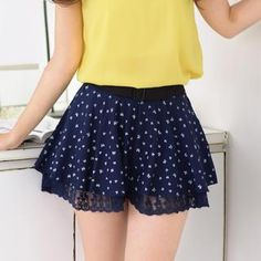 Buy '59 Seconds – Bow-Print Lace-Trim Shorts' with Free International Shipping at YesStyle.com. Browse and shop for thousands of Asian fashion items from Hong Kong and more!