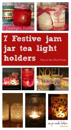 jam jar tea light holders
