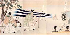 武芸の鍛錬(『千代田之御表』楊洲周延 画)の拡大画像