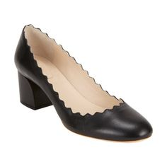 I LOVE these shoes, but they're out of my budget! Anyone know of any look-a-likes?... Chloe Scalloped Pumps at Barneys.com