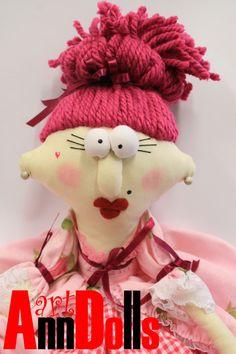 Rag doll Clothes doll colorful doll baroque doll, vintage dolls, fabric doll, toy doll Art Doll Renaissance Dolls. $65.00, via Etsy.