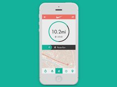 An idea for a more minimal, cleaner approach to the Nike+ Running App.