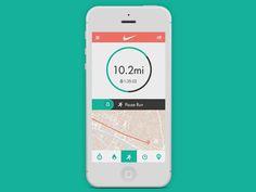 Nike+ run app by Jason Kendall