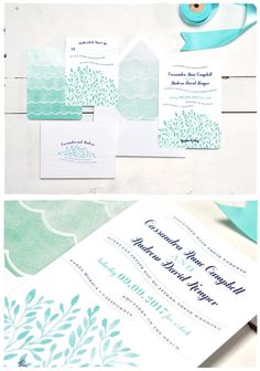 A New Take on Beachy Wedding Invitations | Smitten On Paper