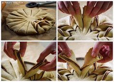 Patce's Patisserie: Brotblume mit Nutella aka. Nutellastern - (K)eine brotlose Kunst