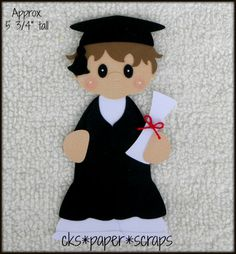 Graduation Boy Scrapbook Embellishment Paper Piecing