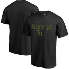 Tampa Bay Rays Fanatics Branded Memorial Day Camo T-Shirt - Black