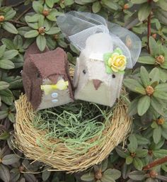 For your newly married daughter/son & spouse moving into their first home. If you can't find a decor or ornament (doesn't need to be a bride-groom pair), a DIY nest and pair of little birds become cherished heirloom decor