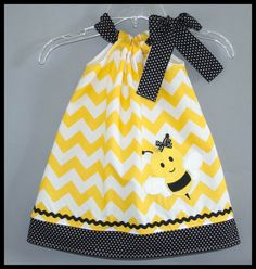 Super Cute Chevron Bumble Bee Applique by LilBitofWhimsyCoutur, $25.00
