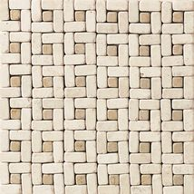 Baja Cream Champagne Gold Pinwheel Accent - Travertine Collection by daltile