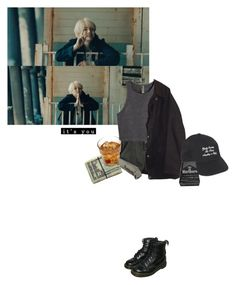 agust D by tenomoto on Polyvore featuring polyvore fashion style H&M Barbour UNIF Dr. Martens clothing