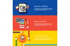Icons for web design, seo, social by robuart on Creative Market