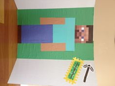Pin the Axe on Steve, Minecraft Party Game birthday