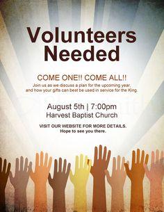 Pix For > Volunteer Flyer Template