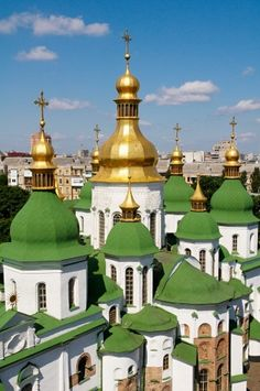Kiev has beautiful gold topped cathedrals...I love them.
