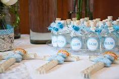 Resultado de imagen para mesa de dulces para bautizos de niño azul blanco amarillo