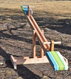 Wouldn't mind making one of these easy DIY See Saw for the grandkids.