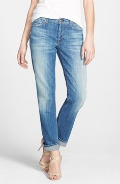 $198, 7 For All Mankind Josefina Boyfriend Jeans. Sold by Nordstrom. Click for more info: https://lookastic.com/women/shop_items/88686/redirect