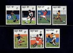 Cambodia 1011-17 World Cup Soccer Championships Italy Jan 5 1990 complete set of (7) lot #cam1011-17-1 by VicsStamps on Etsy