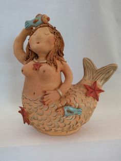 Pottery Mermaid by Probst Pottery