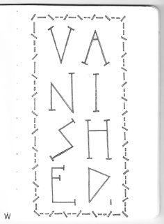 Crystal Castles - Vanished #handlettering #lettering #typography