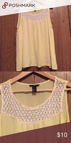 H&M blouse H&M blouse, light yellow, never worn H&M Tops Blouses