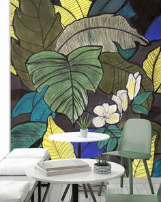 I love the work of Matisse. The simplicity of line and the bold use of strong colour. There's no apology for what it is. On Sunday I was… A N Wallpaper, Custom Wallpaper, Designer Wallpaper, Room Wall Painting, Wall Art, How To Apologize, Matisse, Wall Design, Pattern Design
