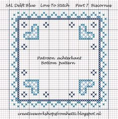 Creative Workshops from Hetti: SAL Delft Blue Love To Stitch Part 7