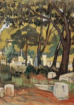 Olympia Wood Print by Maleas Konstantinos. All wood prints are professionally printed, packaged, and shipped within 3 - 4 business days and delivered ready-to-hang on your wall. Olympia, Greece Painting, Hellenistic Period, Post Impressionism, Impressionist, 10 Picture, Greek Art, Art Database, Classical Art