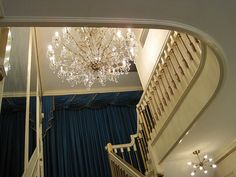 mysterious upstairs of Graceland; no one was/is allowed upstairs except family & staff--Elvis' orders