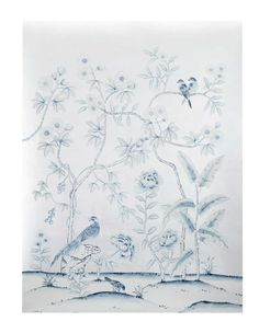 A painted silk chinoiserie panel from LA-based artisan Simon Paul Scott is a glamorous way to dress up your walls. Handmade using traditional loom techniques, it also looks great as framed artwork | domino.com