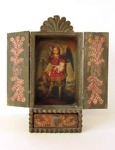 Cusco Retablo Wood Religious Art Shrine by JeepersKeepers on Etsy